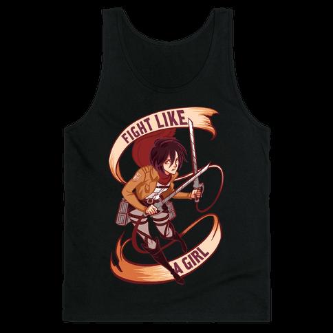 Mikasa: Fight Like a Girl Tank Top