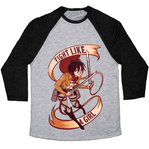 Mikasa: Fight Like a Girl Baseball Tee