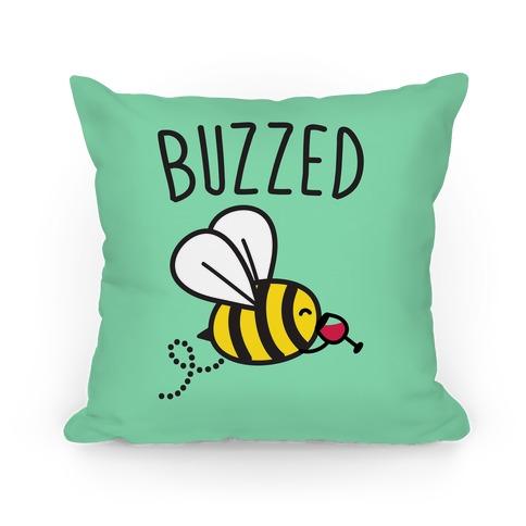 Buzzed Wine Bee Pillow