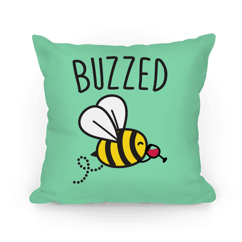 Buzzed Wine Bee Pillow