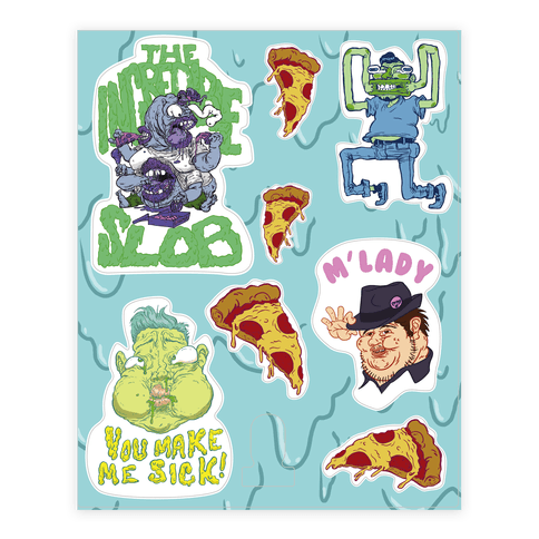 Gross People  Sticker/Decal Sheet
