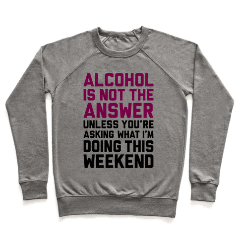 Alcohol Is Not The Answer Pullover