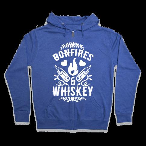 Bonfires & Whiskey Zip Hoodie