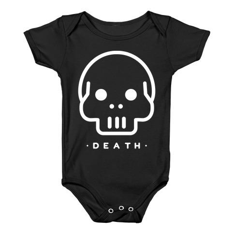 Death Tarot Baby Onesy