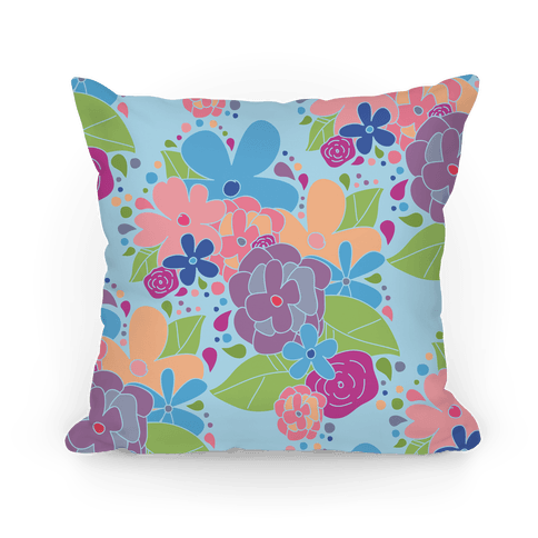 Flower Garden Pillow Pillow