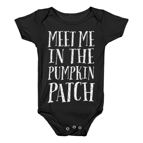 Meet Me In The Pumpkin Patch Baby Onesy