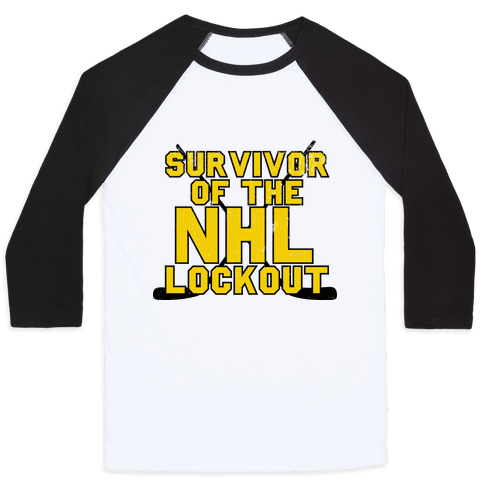 Survivor Of The NHL Lockout Baseball Tee