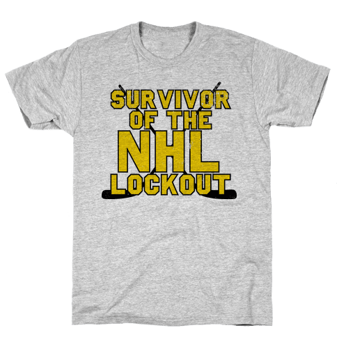 Survivor Of The NHL Lockout Mens T-Shirt