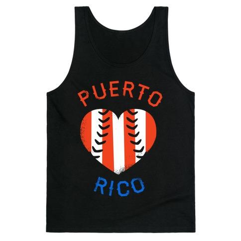 Puerto Rico Baseball Love (Tank) Tank Top