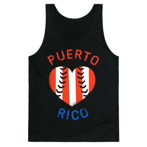 Puerto Rico Baseball Love (Tank) Tank Top