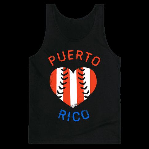 Puerto Rico Baseball Love (Tank)
