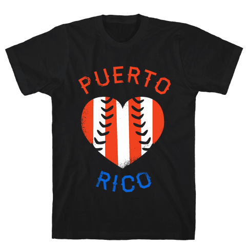 Puerto Rico Baseball Love (Tank) Mens T-Shirt