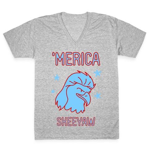Merican Eagle V-Neck Tee Shirt