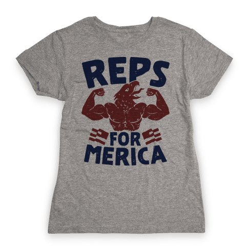 Reps For 'Merica Womens T-Shirt