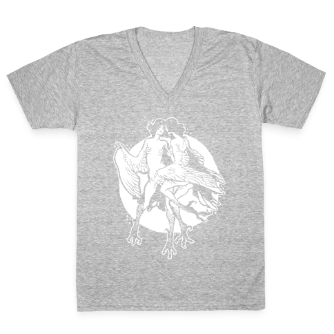 Harpy Monster Girls V-Neck Tee Shirt