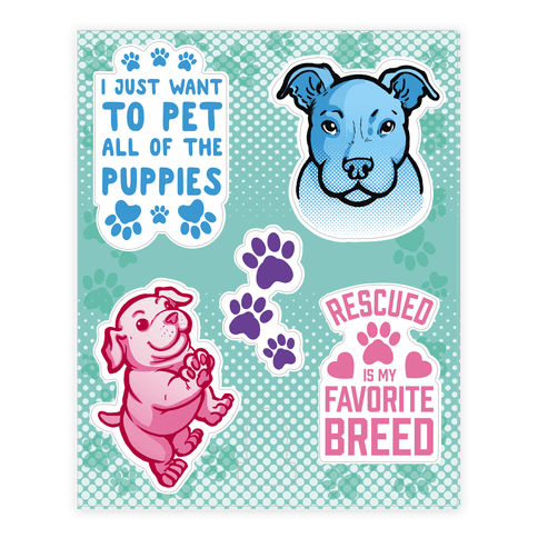 Cute Puppy  Sticker/Decal Sheet