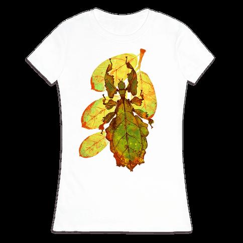 Phylliidae Walking Leaf Womens T-Shirt