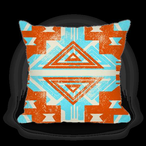 Orange and Teal Aztec Pattern