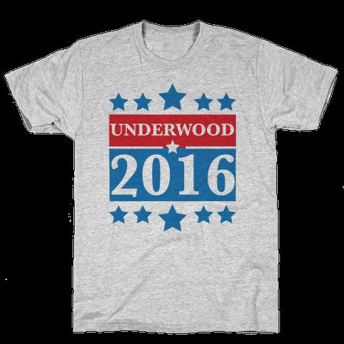 Underwood For President 2016 Mens T-Shirt