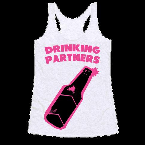 Drinking Partners (Pink) Racerback Tank Top