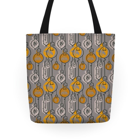 Moth And Wallflower Indie Lights Pattern Tote