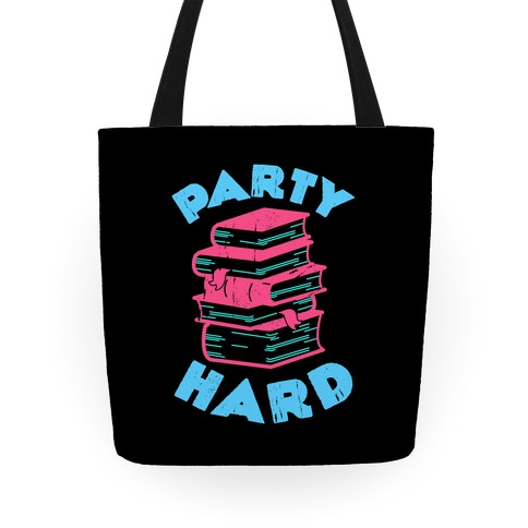 Party Hard Book Stack Tote