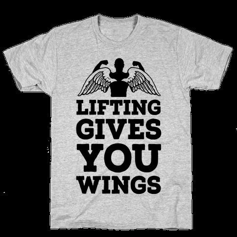 Lifting Gives You Wings Mens T-Shirt