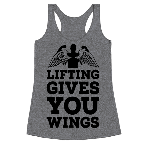 Lifting Gives You Wings Racerback Tank Top