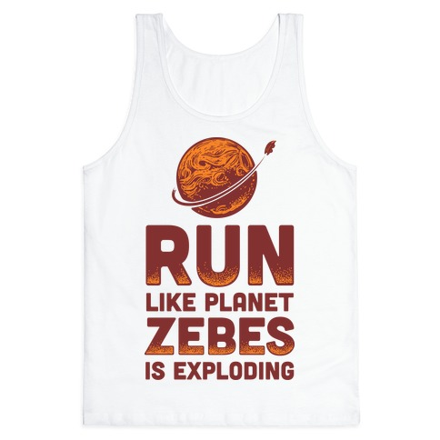 Run Like Planet Zebes Is Exploding Tank Top