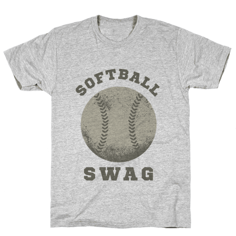Softball Swag Mens T-Shirt