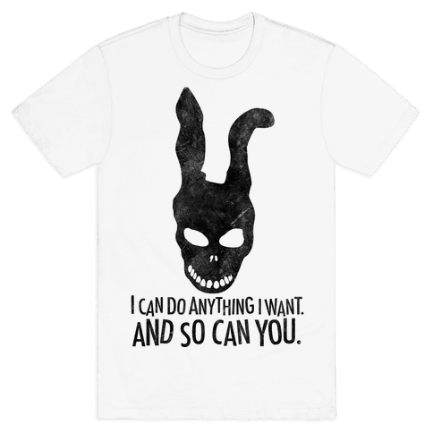 I Can Do Anything I Want Donnie Darko Frank Mask Mens T-Shirt