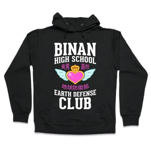 Binan High School Earth Defense Club (Pink) Hooded Sweatshirt