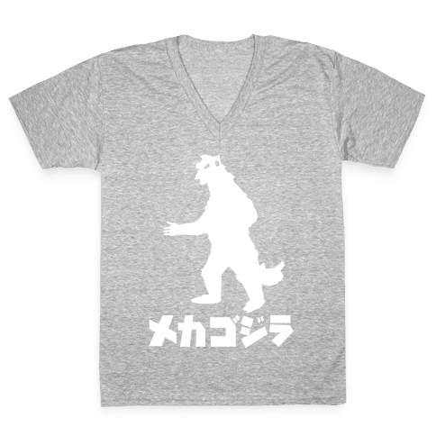 Mecha Godzilla V-Neck Tee Shirt
