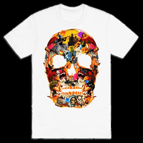 Vintage Skull Mens T-Shirt