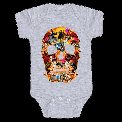Vintage Skull Baby Onesy