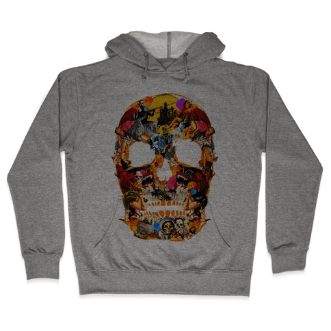 Vintage Skull Hooded Sweatshirt