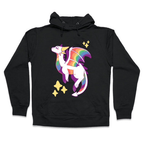 Gay Pride Dragon Hooded Sweatshirt