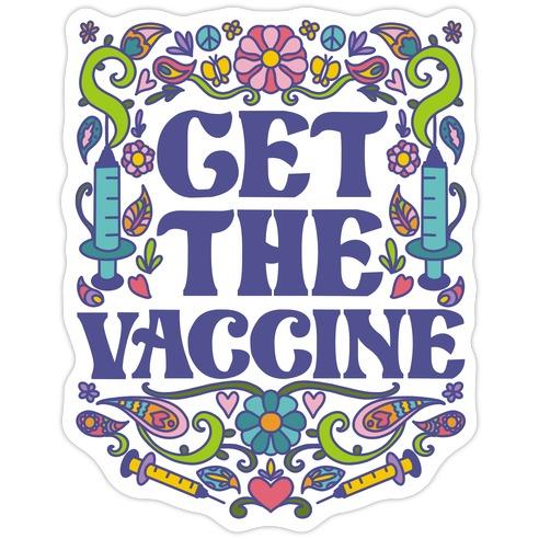 Get The Vaccine Die Cut Sticker