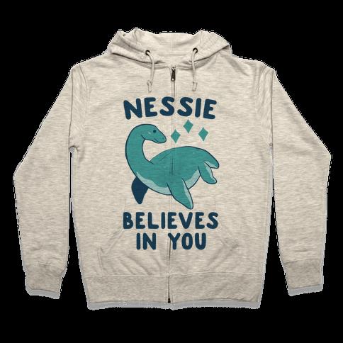 Nessie Believes In You Zip Hoodie