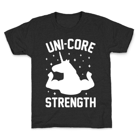 Uni-Core Strength (White) Kids T-Shirt