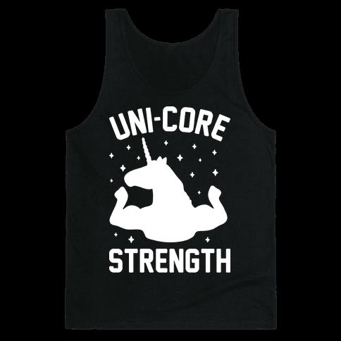 Uni-Core Strength (White) Tank Top