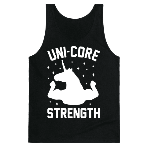 Uni-Core Strength (White) Tank Top