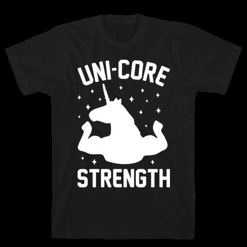Uni-Core Strength (White) Mens T-Shirt