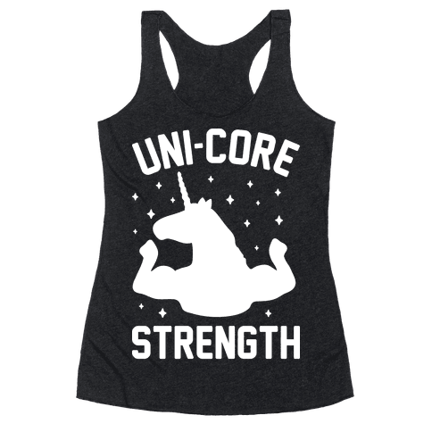 Uni-Core Strength (White) Racerback Tank Top