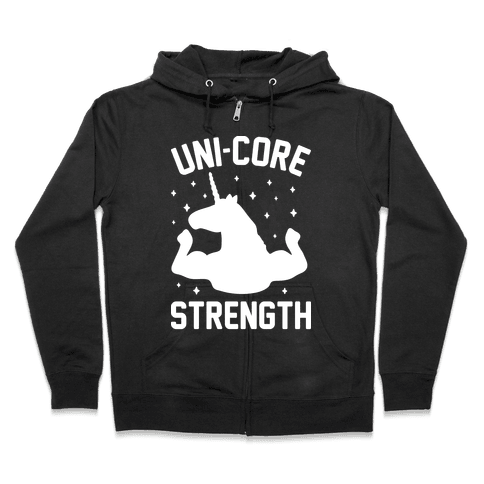Uni-Core Strength (White) Zip Hoodie
