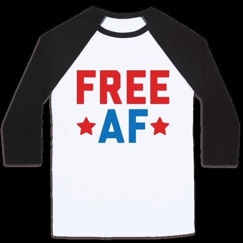 Free AF Baseball Tee