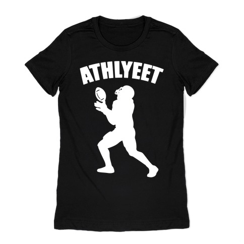 Athlyeet Football White Print Womens T-Shirt