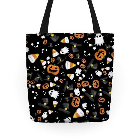 Spoopy Halloween Pattern Tote