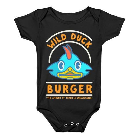Wild Duck Burger Orange Baby Onesy