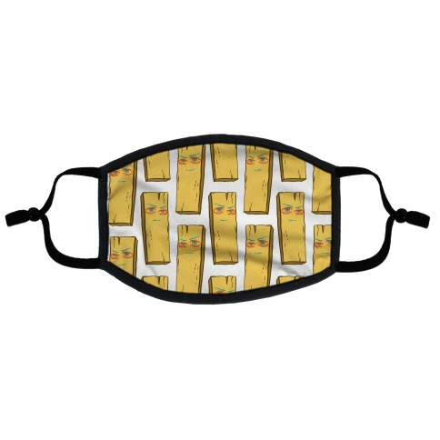 Planke-kun Anime Plank Flat Face Mask